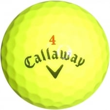 Callaway HEX Chrome \ Chrome + Yellow Golf Balls