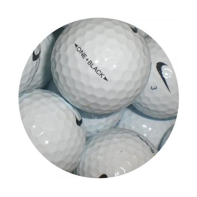 Voluntario marca Ejecutante  Nike One Black \ Platinum Golf Balls - Golf Balls from Premier Lake Balls UK